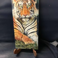 Original oil painting of a Tiger