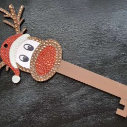 Rudolph the red nosed Reindeer /Santa Keys. Christmas decorations/ornament
