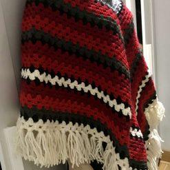 Christmas poncho - 100% wool 11
