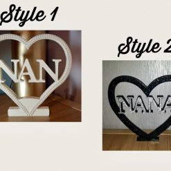 Personalised Heart for Nan, Mom, Mum, Gran, Love & Dad 2