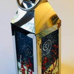 Fused Glass Winter Lantern