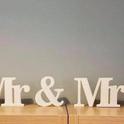 Wedding must have: Mr & Mrs standing Table top decoration/gift 3
