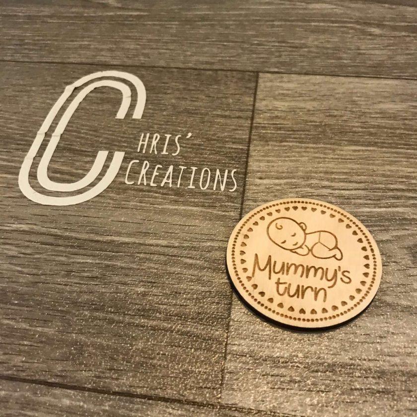 A Mummy's / Daddy's flip coin