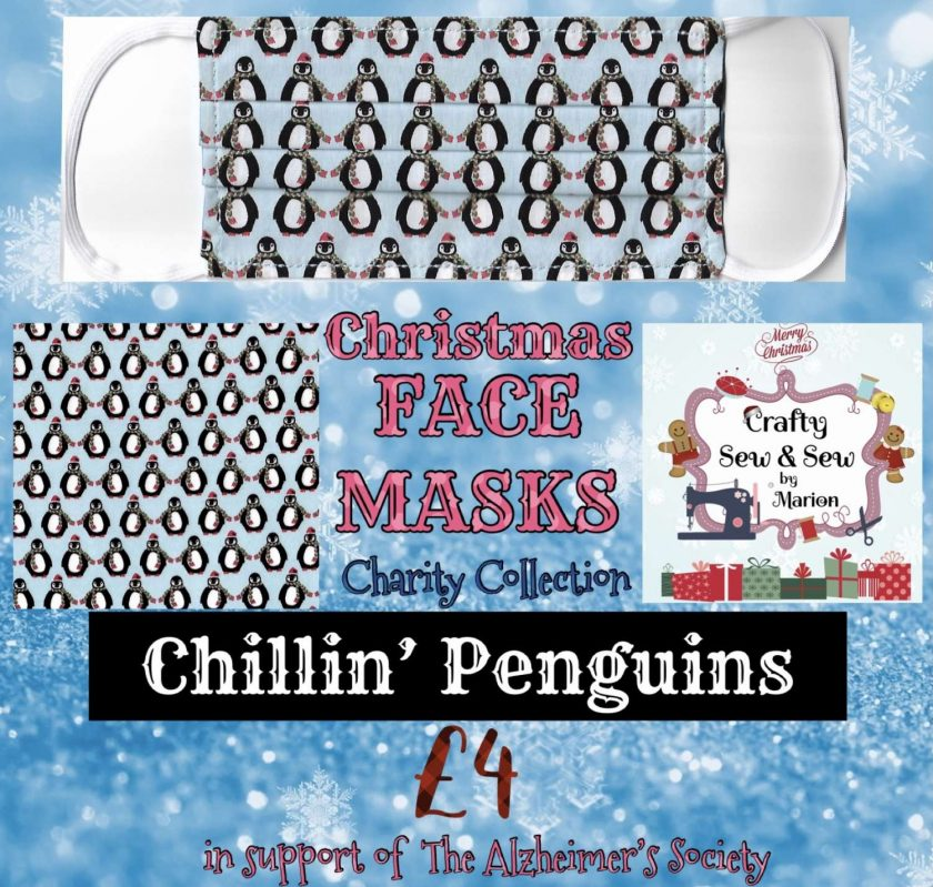 'PPE' Style FACE MASKS 🎄 Christmas CHARITY Collection 🎄 in support of The Alzheimer's Society 🎄 Washable & Reusable (Eco-Friendly) 🎄 Choice of Designs & Sizes 14