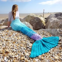 Crochet Mermaid Tail Blanket Chunky Cosy Snuggle Sack in Baby, Child and Adult sizes. Valentines gift for women, girls Handmade in UK 9