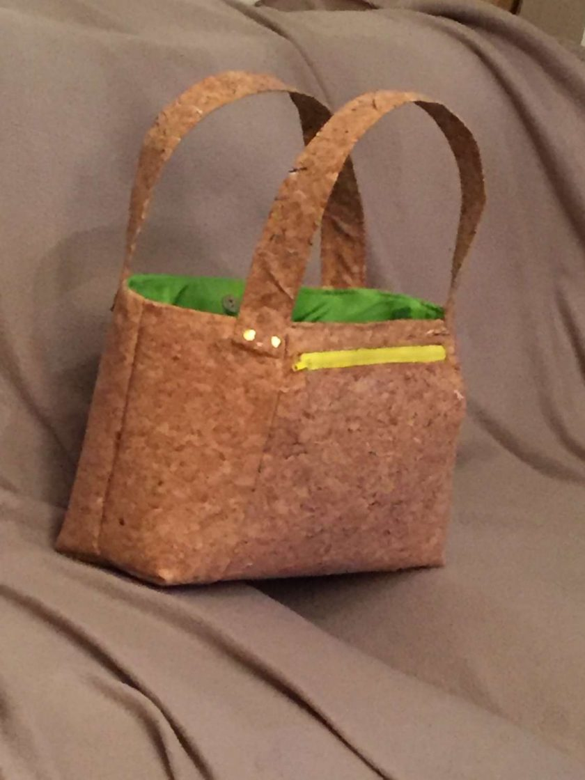 Sale: 1 only Rainbow panel cork tote handbag 2