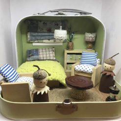 Handmade Miniature Dolls House in a Suitcase