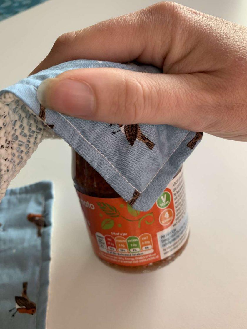 Fabric Jar/Bottle Opening Aid 4