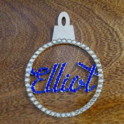 Personalised hanging Baubles Name. Mr & Mrs, Baby's 1st, Lockdown 2020 Tree decoration/ornament 5