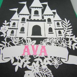 A4 Flower castle, paper cutting. 7
