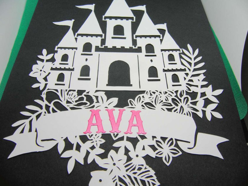 A4 Flower castle, paper cutting. 2