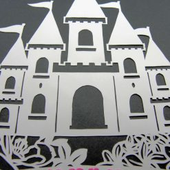 A4 Flower castle, paper cutting. 8