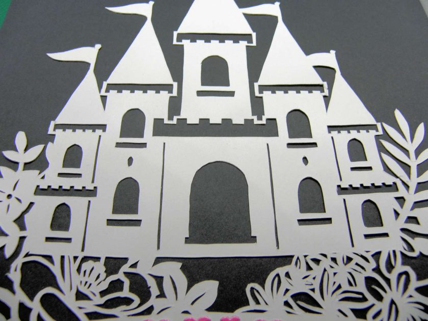 A4 Flower castle, paper cutting. 3