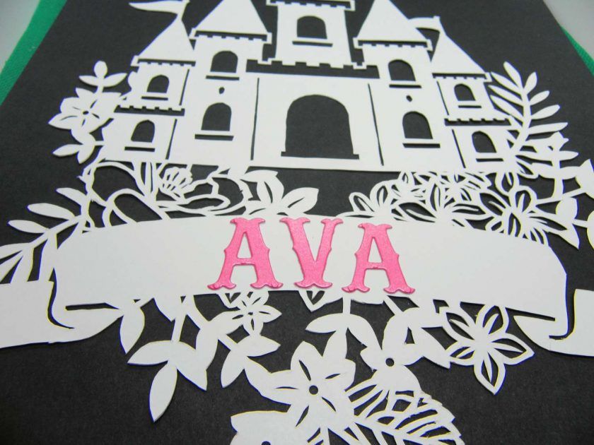 A4 Flower castle, paper cutting. 5