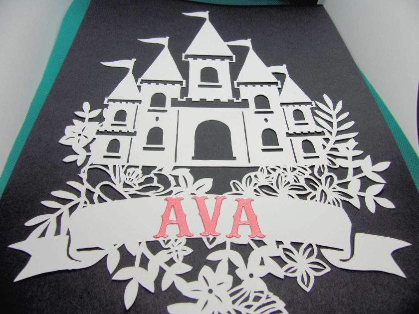 A4 Flower castle, paper cutting. 6