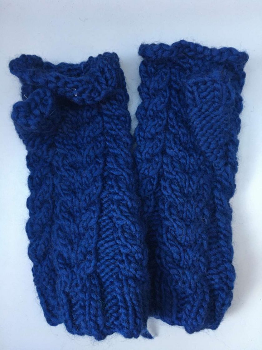 Mittens for Adults in navy 1