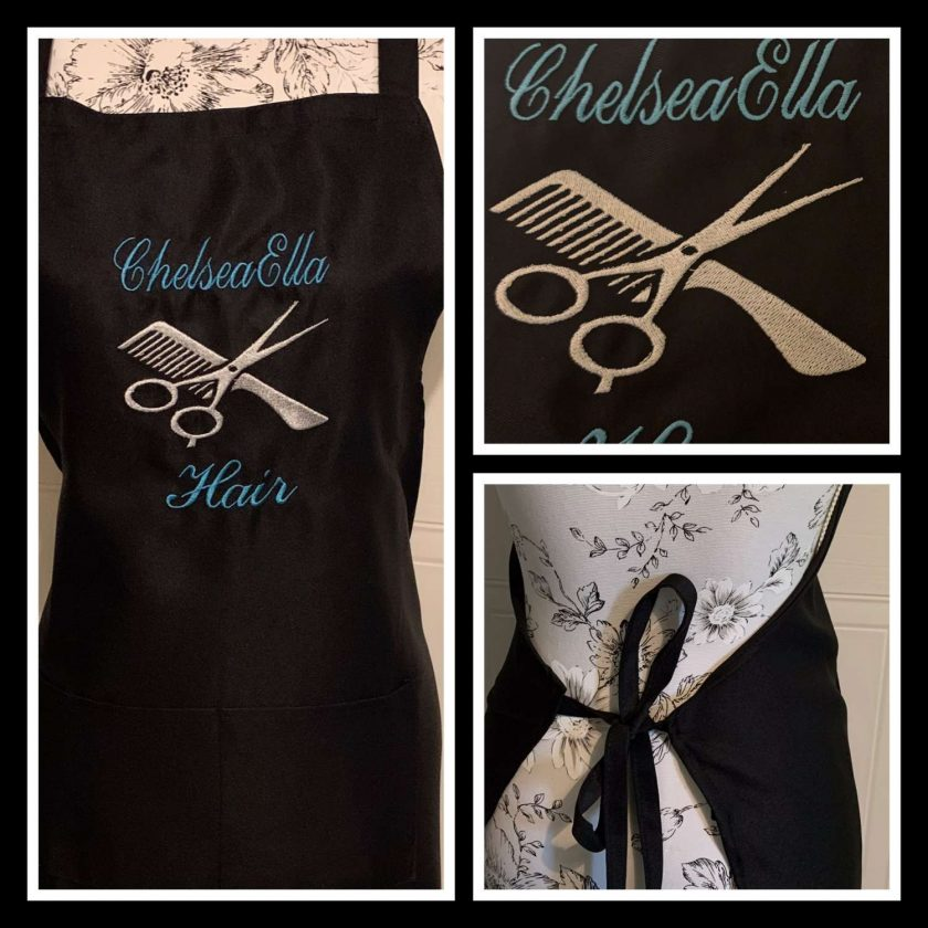 Personalised Embroidered Hairdresser Apron 1