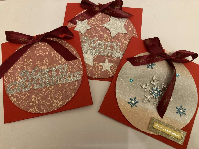 Hand made Christmas Cards set of 3 / free p.p 1