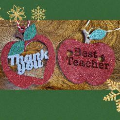 Thank you Teacher Apple, Christmas gift,School decoration/ornament 2
