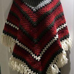 Christmas poncho - 100% wool 7