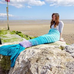 Crochet Mermaid Tail Blanket Chunky Cosy Snuggle Sack in Baby, Child and Adult sizes. Valentines gift for women, girls Handmade in UK 8