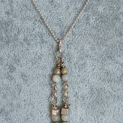 Jewellery: Beaded drop necklace 3