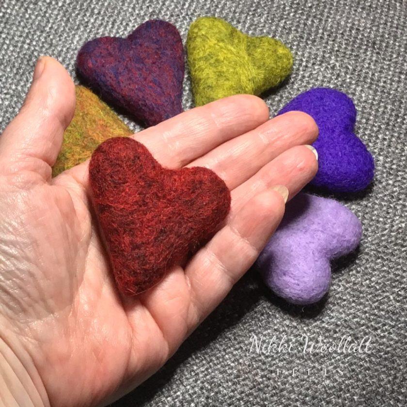 Aromatherapy Felted Heart Pocket Hug 2