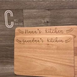 Personalised chopping boards large