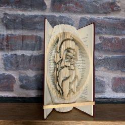 Folded Book Art - Santa