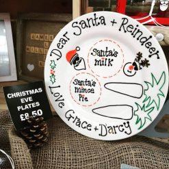 Personalised Christmas Eve Santa Plates