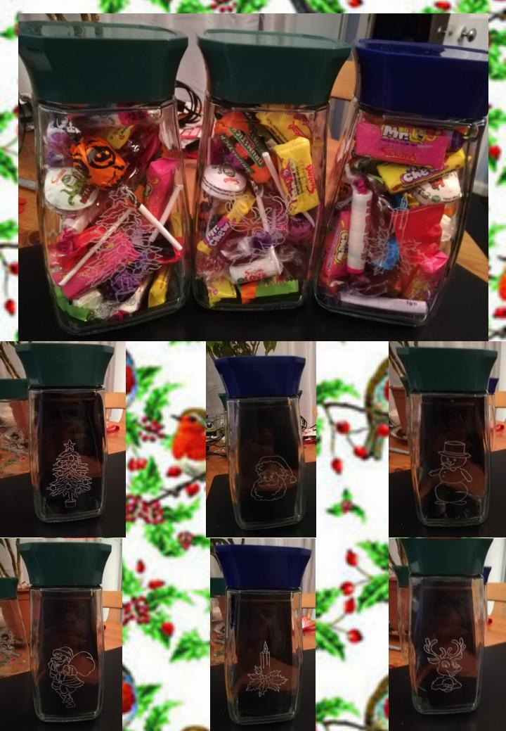 Christmas Jar of Sweets 1