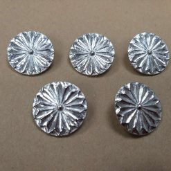 25mm Pewter 'Cockade' Button (5 Pack)