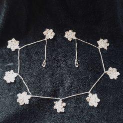 Sparkling Snowflake Garland