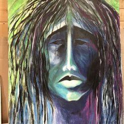 Apache portrait original painting