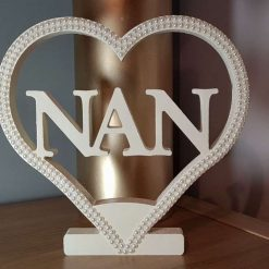 Personalised Heart for Nan, Mom, Mum, Gran, Love & Dad