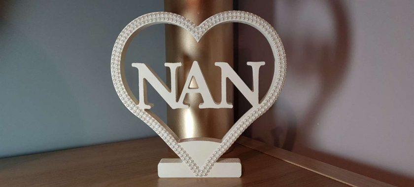 Personalised Heart for Nan, Mom, Mum, Gran, Love & Dad