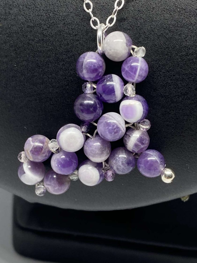Amethyst Heart Pendant & 925 Sterling Silver Necklace 3