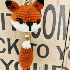 Crochet keychain foxy