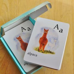 2 packs of Children's Flash cards, suitable for pairs/snap game, Educational & fun, Animal alphabet flash cards, 26 animals with their babies, A-Z cards