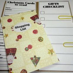 Hand Crafted Christmas Planner. Blue Tartan
