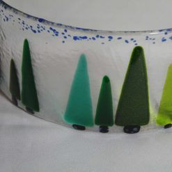 Trees, large fused glass curve. #933 4