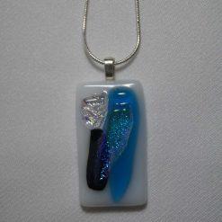 Dichroic Glass Pendant #939 4