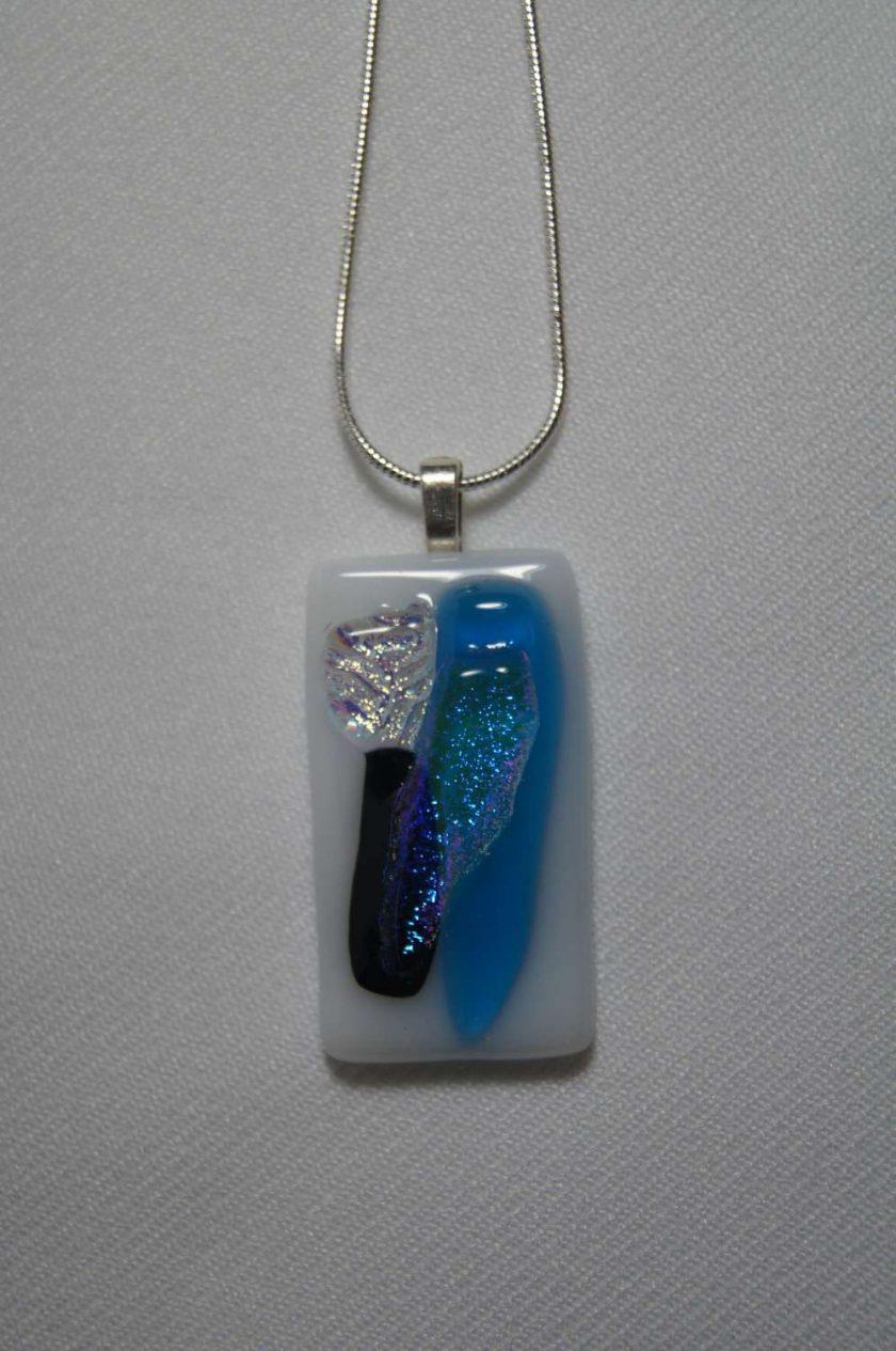 Dichroic Glass Pendant #939 2