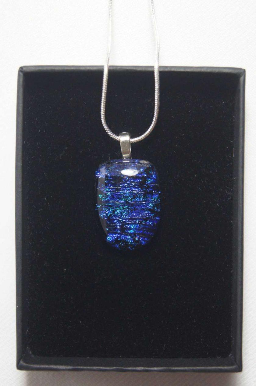 Dichroic Glass Pendant #945 1