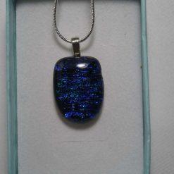 Dichroic Glass Pendant #945 4