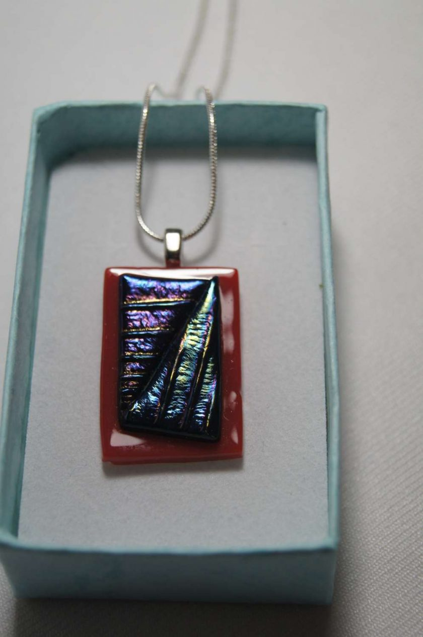 Dichroic Glass Pendant #948 2