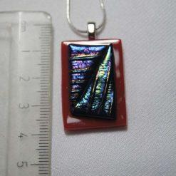 Dichroic Glass Pendant #948 5