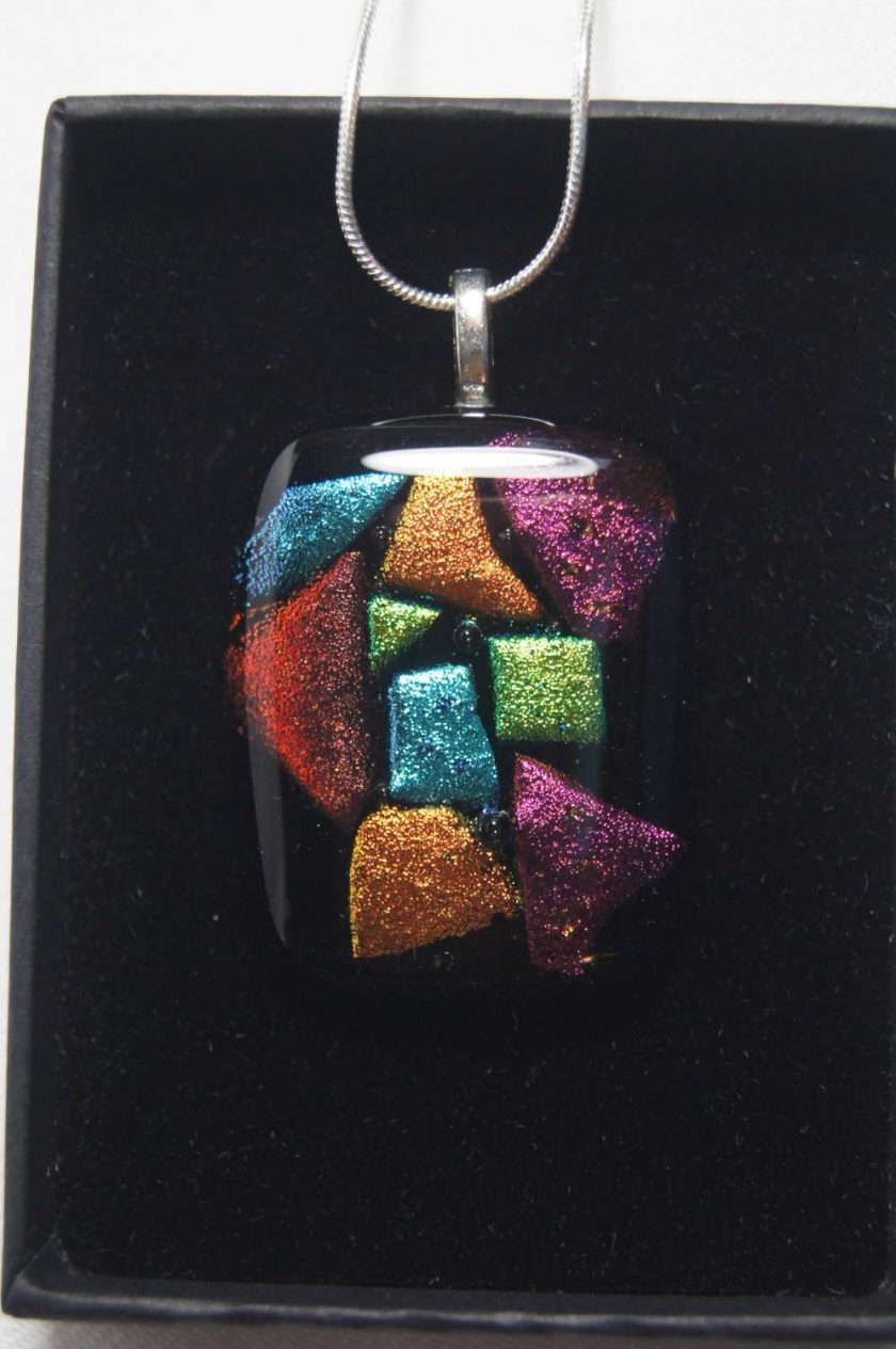 Dichroic Glass Pendant #957 2