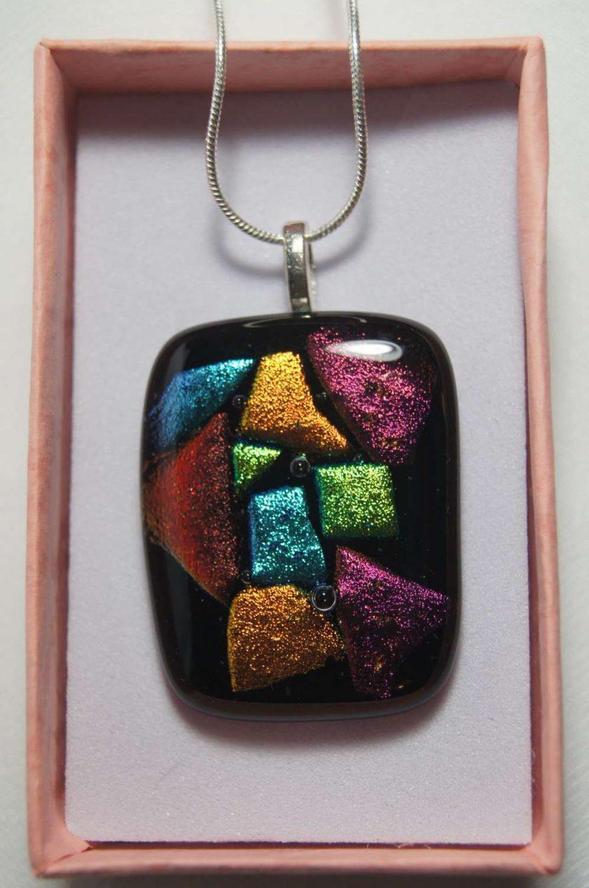 Dichroic Glass Pendant #957 1