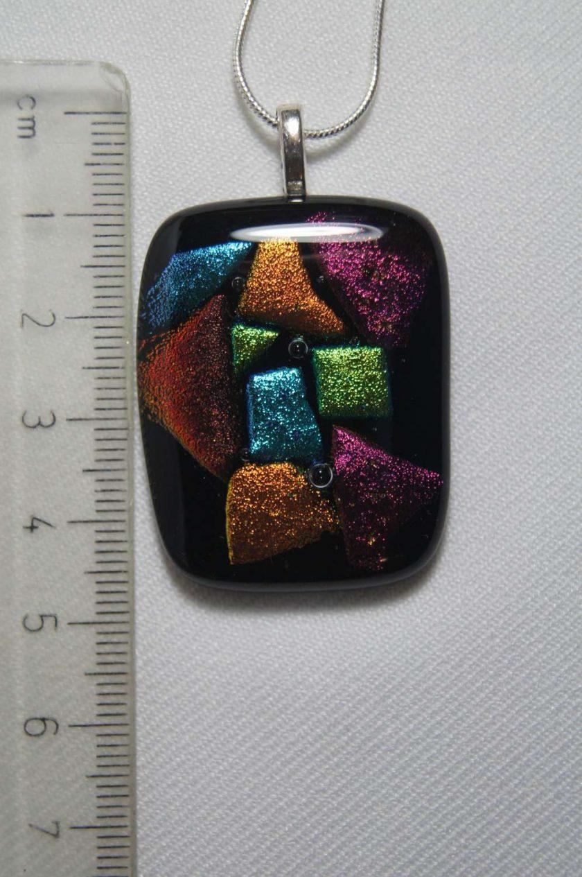 Dichroic Glass Pendant #957 3